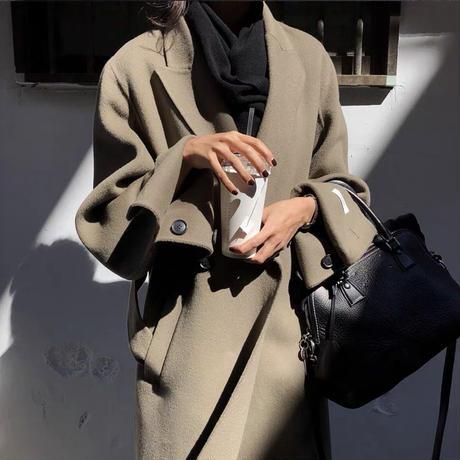 《予約販売》wool100% handmade long coat (2color)