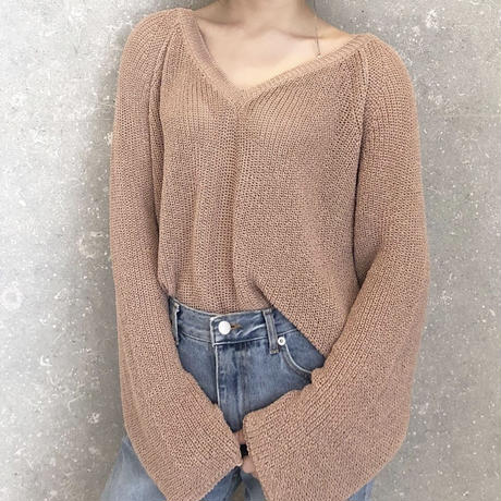 《予約販売》v neck summer knit