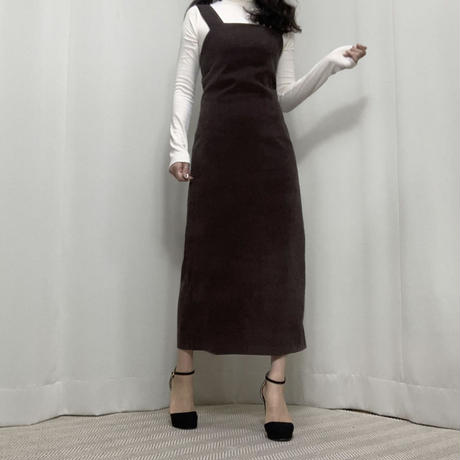 《予約販売》square bustier back slit long one-piece