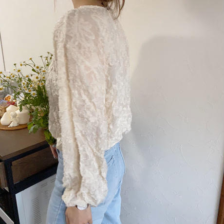 《予約販売》flower motif blouse