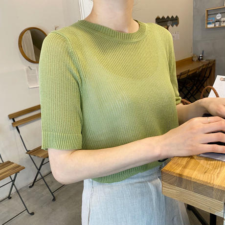 《予約販売》half sleeve  summer knit