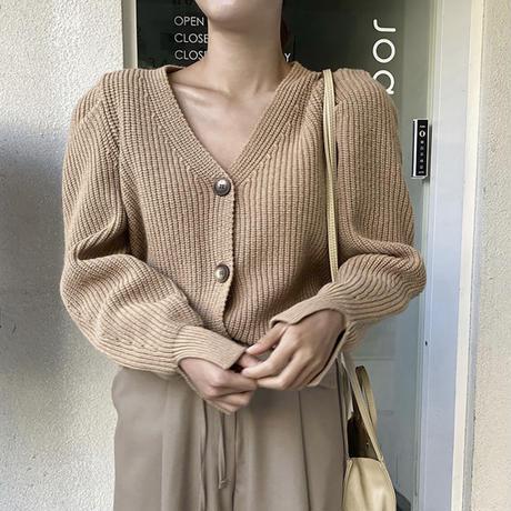 《予約販売》fine wool puff sleeve cardigan (3color)