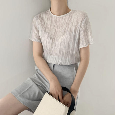 《予約販売》crinkle 2way blouse
