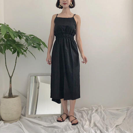 《予約販売》front slit camisole one-piece