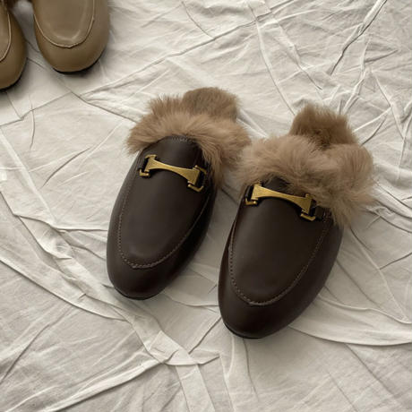 《予約販売》buckle fur bloafer (3color)