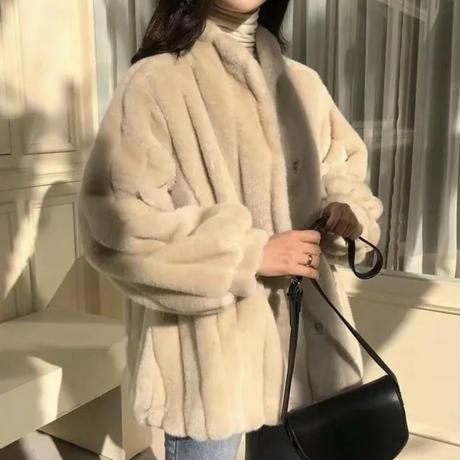 《予約販売》mink fur jacket