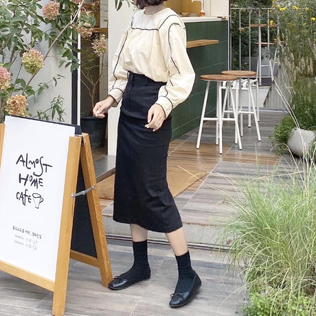 《予約販売》stitch bi-color blouse