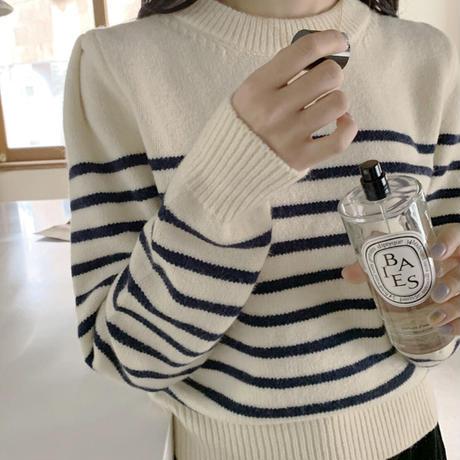 《予約販売》striped knit (2color)