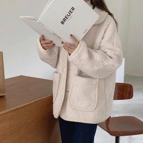 《予約販売》wool blend boa half coat (2color)