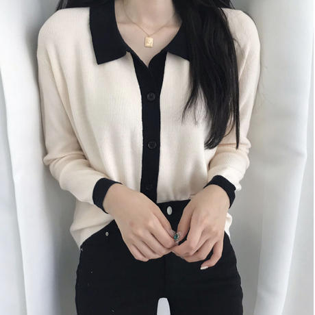 《予約販売》bi-color cardigan