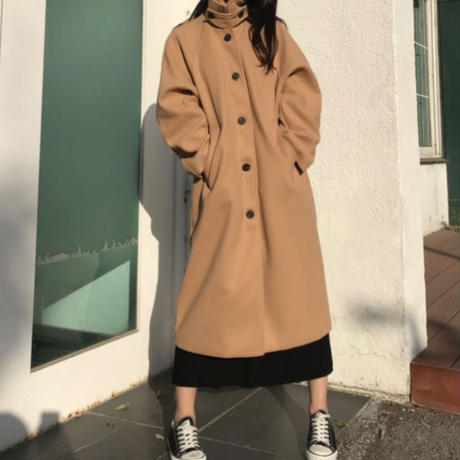 《予約販売》wool blend single coat