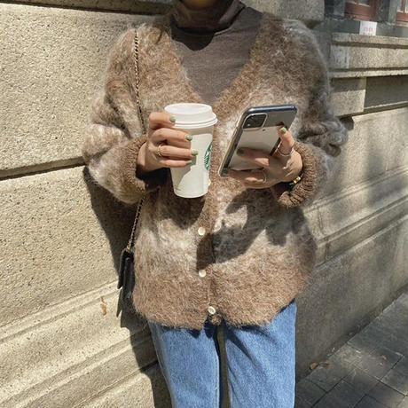 《予約販売》latte mohair cardigan (2color)