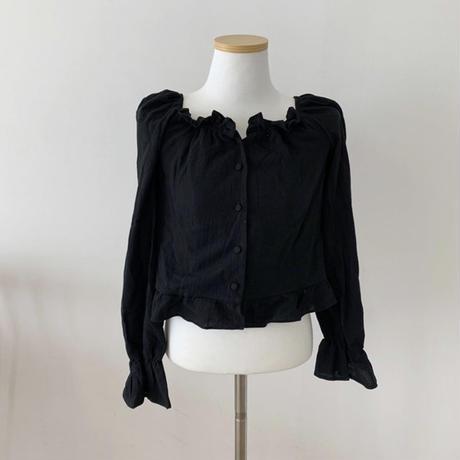 《予約販売》flower collar blouse