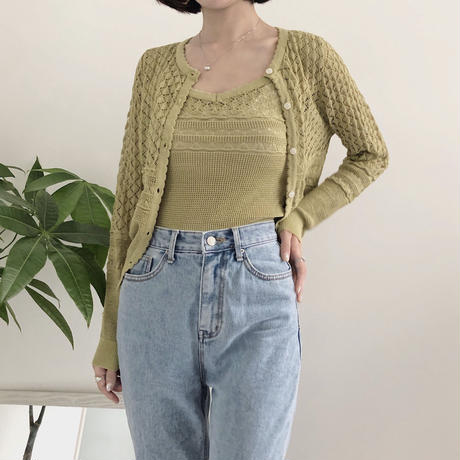 《予約販売》lace summer knit ensemble