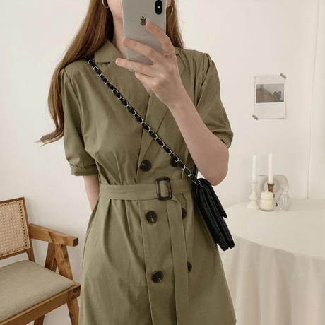 《予約販売》trench mini one-piece