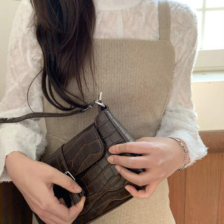 《予約販売》wool blend bustier check long one-piece