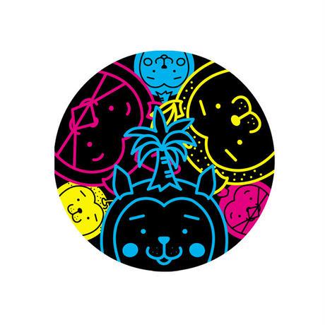みやざき犬ステッカー/直径9.5㎝(3枚セット)