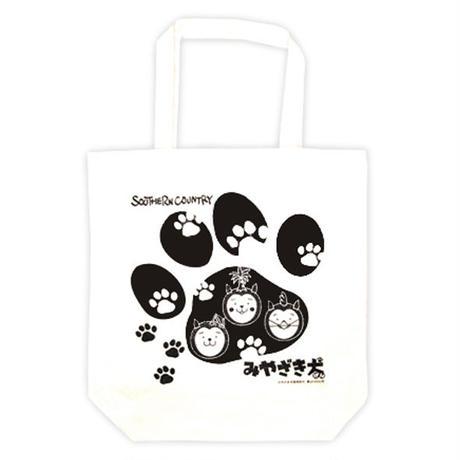 みやざき犬トートバッグ/足跡柄(ナチュラル 生成色)