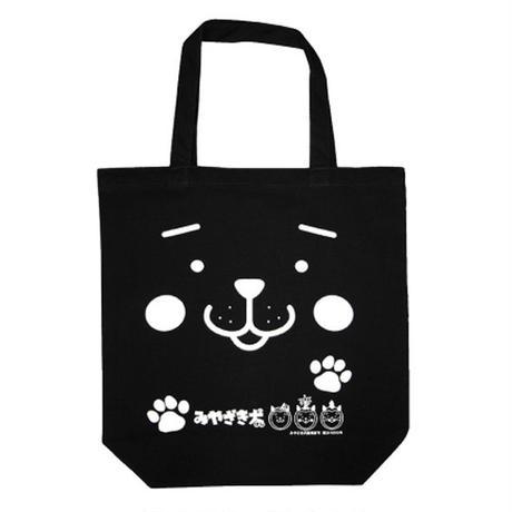 みやざき犬トートバッグ/フェイス柄(ブラック)
