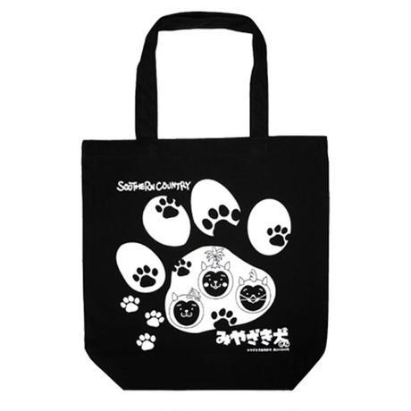 みやざき犬トートバッグ/足跡柄(ブラック)