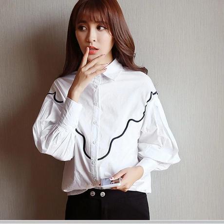 バルーンスリーブシャツ ホワイト