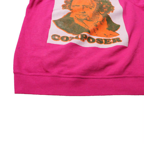 COPY CAT  OLD SHORT SLEEVE SWAET COMPOSER PINK - size ASORT