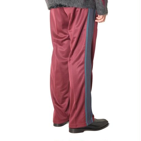 Needles TRACK PANT - POLY SMOOTH  MAROON