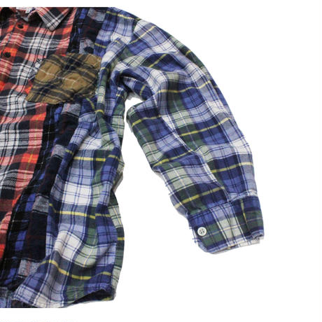 Rebuild by Needles 7 CUT Flannel Shirt RED CHK- M size