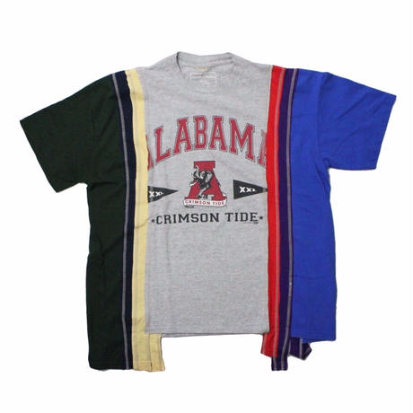 Rebuild by Needles 7 Cut Tee College Wide  #4 GREY  - onesize