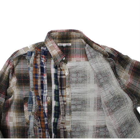 Rebuild by Needles Ribbon Flannel Shirt   BEIGE - M size