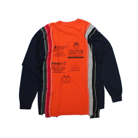 Rebuild by Needles 7 Cuts long sleeve Tee College ORANGE  - size M