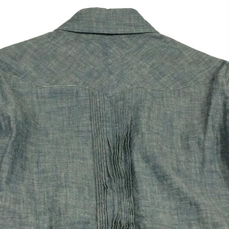 SANCA    CHAMBRAY PINTUCK COWBOY  BLUE - size M -