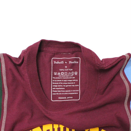 Rebuild by Needles  7 Cut Tee College WINE ⑨ - size M