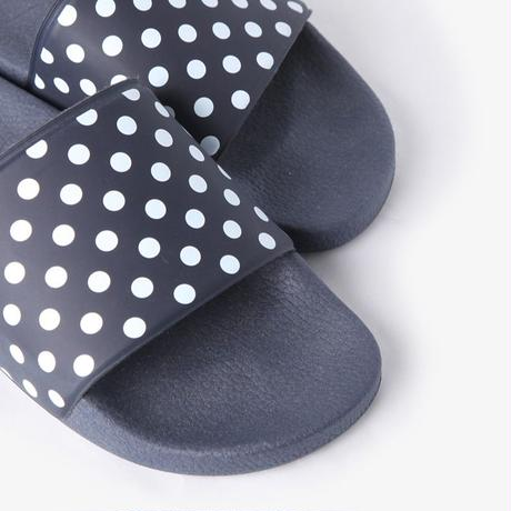 NEEDLES -  POLKA DOT SLIDE SANDAL - NAVY