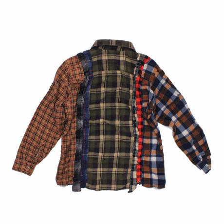 Rebuild by Needles 7 CUT Flannel Shirt KHAKI - M size
