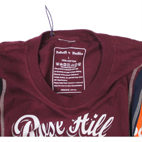 Rebuild by Needles 7 Cuts long sleeve Tee College WINE  - size L ③