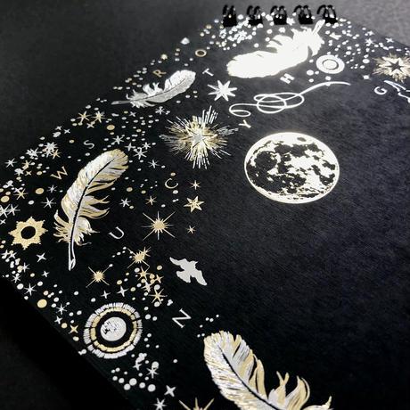 【 受注生産会 】2021年4月1日(木)~2021年4月26日(月)まで ― 『 白夜飛行 』 - 月影 - ななめリングノート
