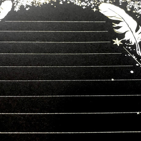 箔便箋+箔封筒 レターセット 『 白夜飛行 - 月影 - 』