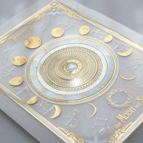 『 月読時計 』 2色箔押し+エンボスクリアファイル( clear plastic file folder ) | 2018年8月27日以降出荷分