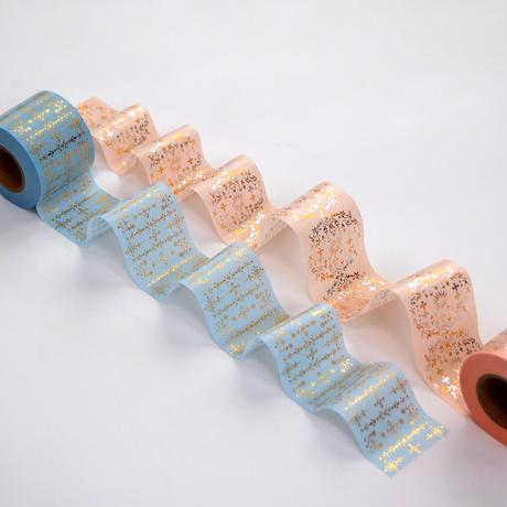 【 受注生産会 】2021年5月1日(土)~2021年5月23日(日)まで ― 花形装飾活字 箔押しマスキングテープ 『 第2弾 』 Type-003