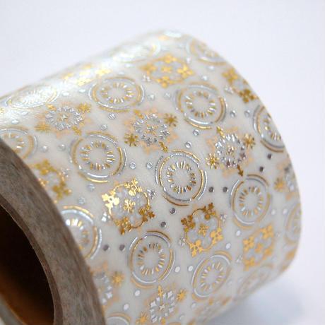 【 受注生産会 】2020年10月1日(木)~2020年10月25日(日)まで ― 花形装飾活字 箔押しマスキングテープ 『 第1弾 』 Type-001