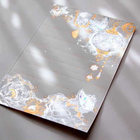超高級箔便箋 『 輝きの秘境 』 - Yuko Tsuji Artwork 第1弾 -