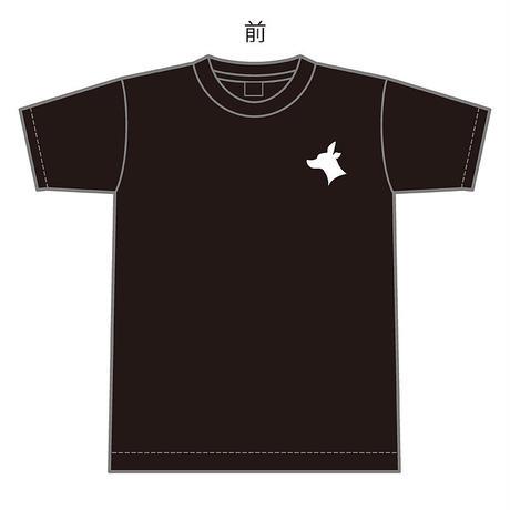 HJSオリジナルTシャツ:変態ブラック:ホワイトプリント