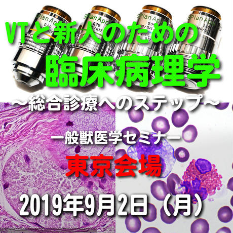 VTと新人のための臨床病理学【血液検査のパニック値】東京:2019年9月2日(月)
