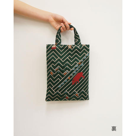 snip snap SATOYAMA  bag |  fox green