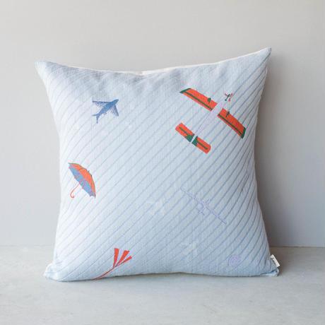 (no pattern backside) snip snap SKY cushion cover   morning umbrella 裏面無地