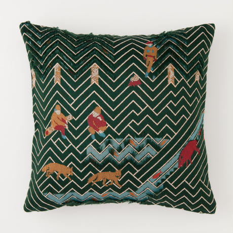 snip snap SATOYAMA cushion cover | fox green