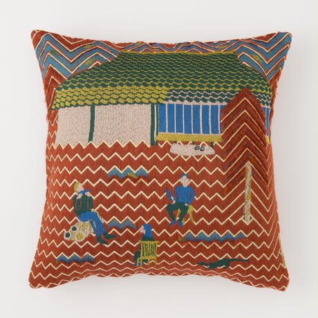 snip snap SATOYAMA cushion cover | weasel red