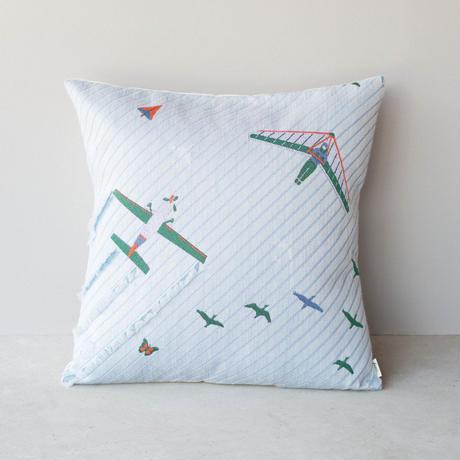 (no pattern backside) snip snap SKY cushion cover   morning glider 裏面無地