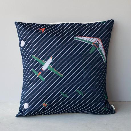 (no pattern backside) snip snap SKY cushion cover   night glider 裏面無地